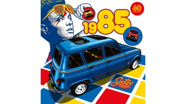 Illustration Greg - Renault 4 sixties