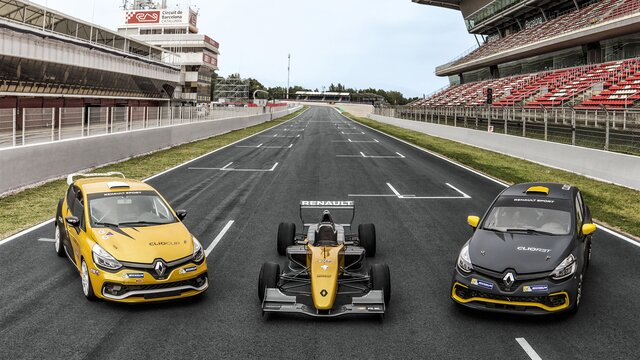 Renault Sport series - start wyścigu