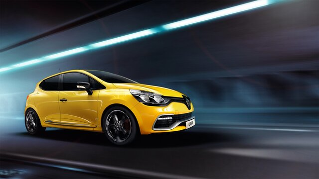 Žltý Renault CLIO R.S.