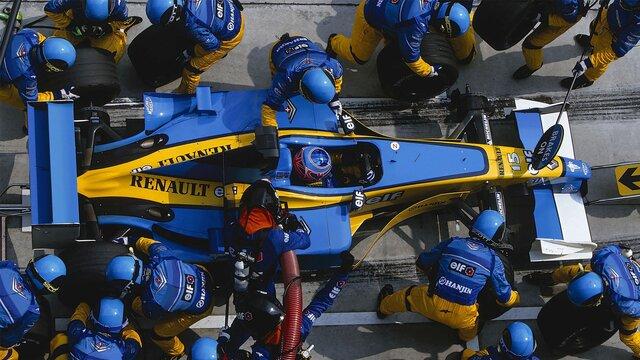 Renault Sport Formel-1-Boxenstopp