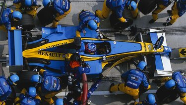 A Renault Sport Formula–1 boxutcája
