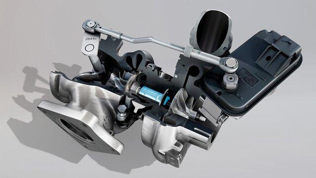 3-D Bild eines Renault Formel 1 Motors