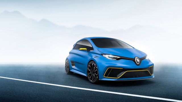 Renault concept car w kolorze niebieskim