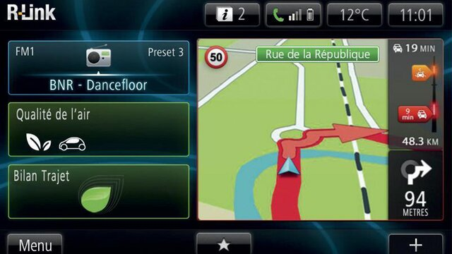TomTom-kaarten - Renault Easy Connect