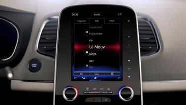 Sprachsteuerung auf dem Renault Connect Display