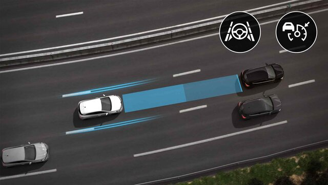 Driver assistance on the motorway