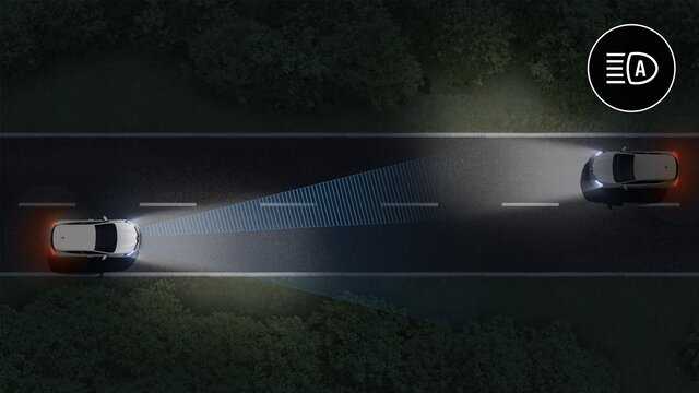 Cambio automático de luces de carretera