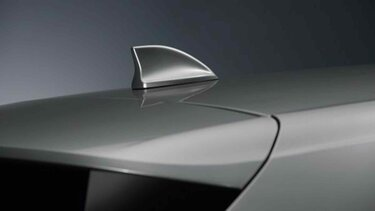 Renault MEGANE - Platin-graue Haifischantenne