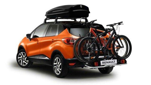 Renault CAPTUR – Veloträger und Dachbox