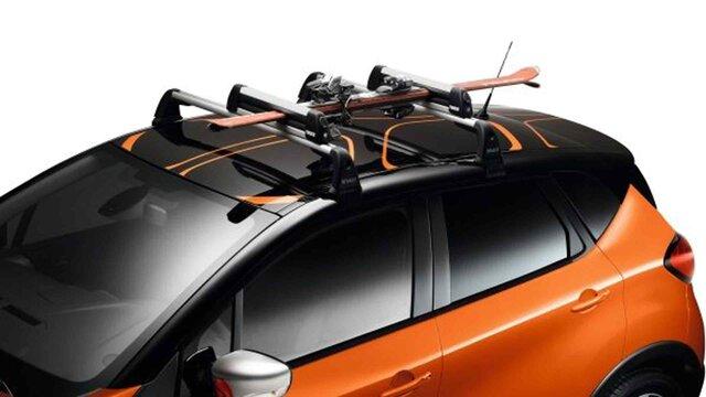 Renault CAPTUR – BARRAS DE TEJADILHO E PORTA-ESQUIS/PRANCHAS DE SNOWBOARD