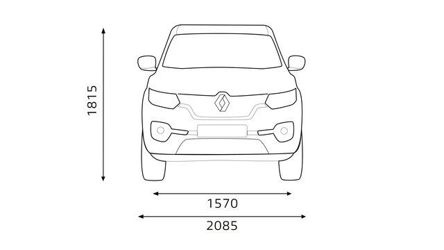 Renault ALASKAN dimensions face avant