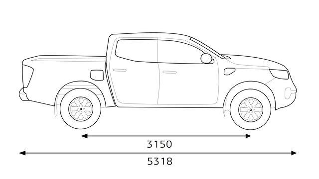 Renault ALASKAN dimensions profil