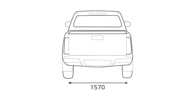 Renault ALASKAN dimensions arrière