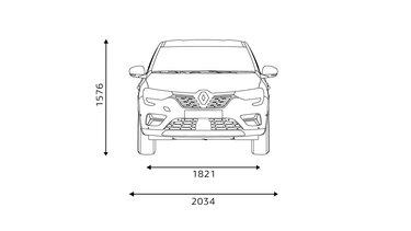 Renault Arkana - dimensioni lato anteriore
