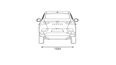 Renault Arkana - afmetingen achterkant