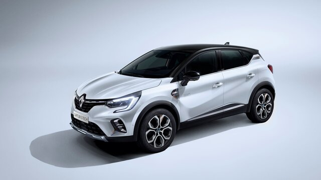 CAPTUR orange Profil 3/4 avant gauche