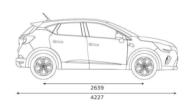 Medidas de perfil del Renault CAPTUR