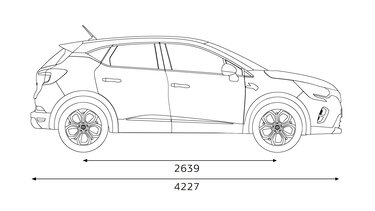 Renault CAPTUR profile dimensions