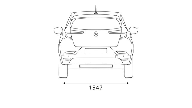 Wymiary z tyłu Renault CAPTUR