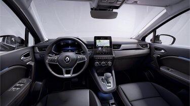 Renault CAPTUR SUV belső tere, az első és a hátsó ülőhelyekkel