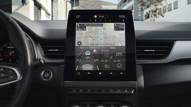 Renault CAPTUR ecrã, painel de instrumentos