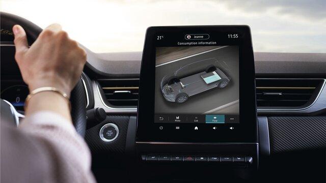 Új Renault CAPTUR kompakt városi terepjáró műszerfal, sofőr képernyője