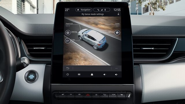 Renault CAPTUR innen, Armaturenbrett, Fahrerbildschirm