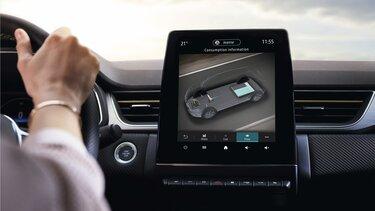 Renault CAPTUR interiør, instrumentbræt, førerskærm