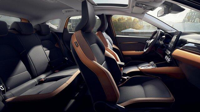 Nowe Renault CAPTUR wnętrze - tapicerka