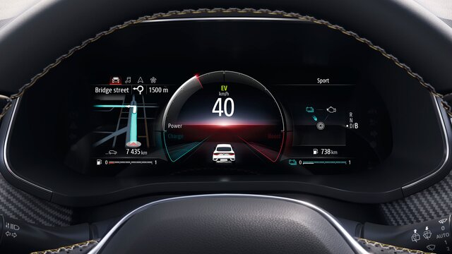 Renault CAPTUR E-TECH - écran conducteur 10,2