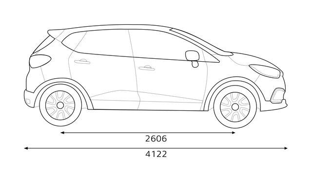 Zadní rozměry vozu CAPTUR