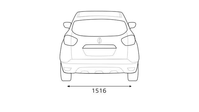 Boční rozměry vozu CAPTUR