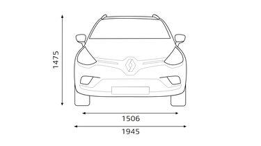 Predné rozmery CLIO Grandtour