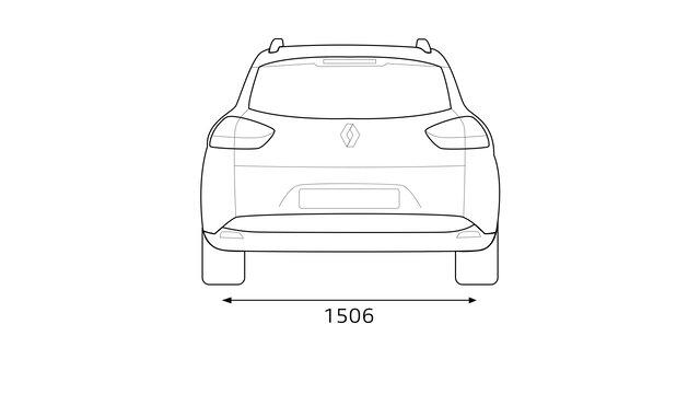A CLIO Grandtour hátsó méretei