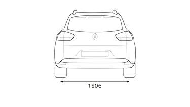Zadné rozmery CLIO Grandtour