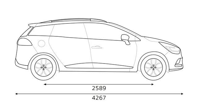 CLIO Estate dimensions profil
