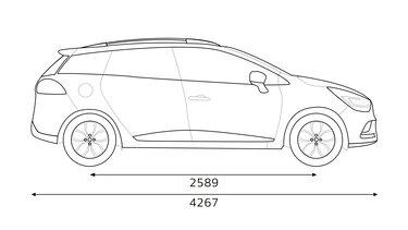 Bočné rozmery CLIO Grandtour