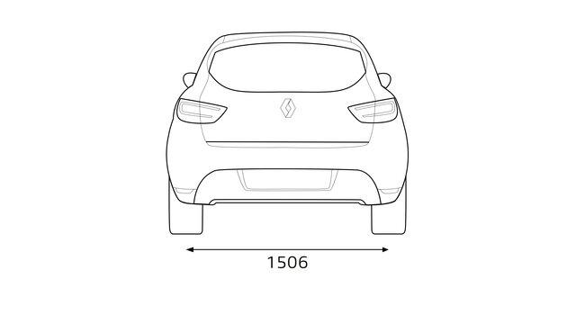 Zadní rozměry vozu CLIO