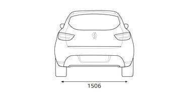 CLIO dimensions arrière