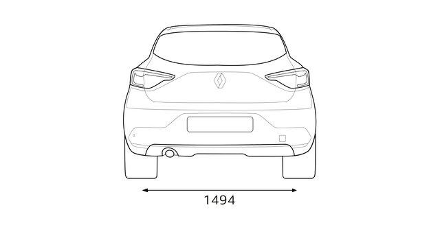 Renault Clio medidas de la parte trasera
