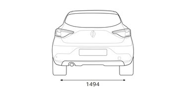 Renault CLIO dimensions rear end dimensions