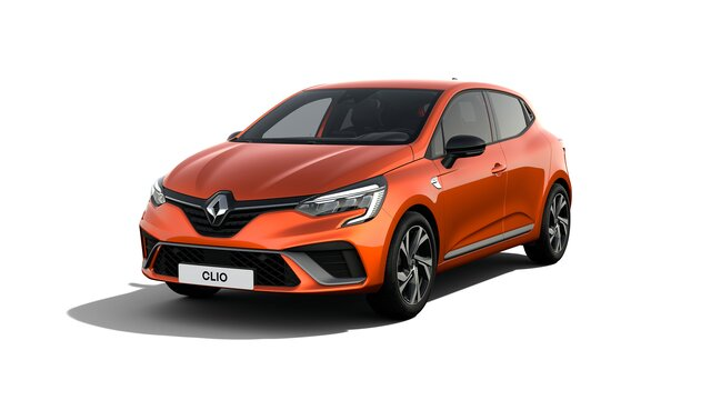 Clio exterior perfil naranja