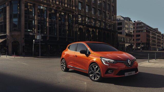 Renault CLIO citadine extérieur orange