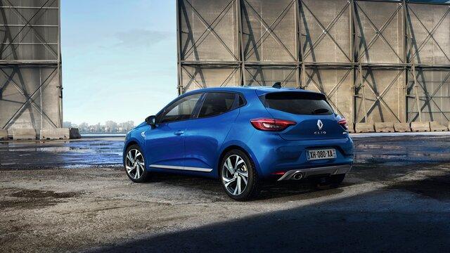 CLIO R.S. Line külső megjelenése hátul, kék
