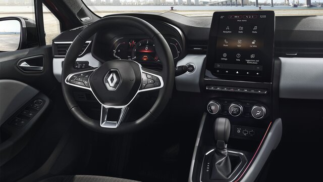 CLIO interior touchscreen tablet