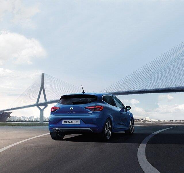 CLIO R.S. Line buitenkant blauw achterkant