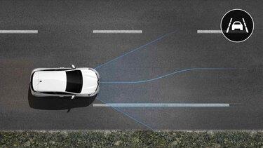 Der Renault CLIO sorgt dafür, dass Sie in der Fahrspur bleiben