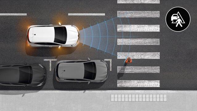 Renault CLIO E-TECH Hybride - automatisch noodremhulpsysteem
