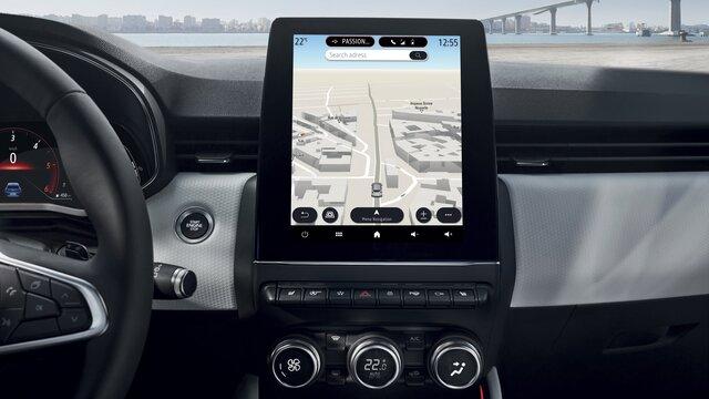 Renault CLIO E-TECH Hybride - Adressen opzoeken via Google