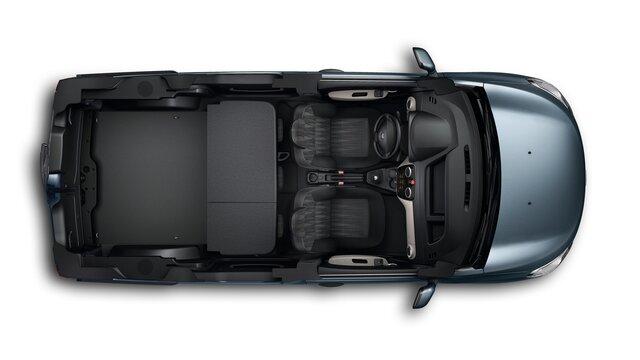 Renault DOKKER - автомобіль для відпочинку - задні сидіння